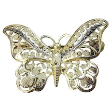 Signed Alice CAVINESS Sterling Germany Marcasite 1930's BUTTERFLY Pin