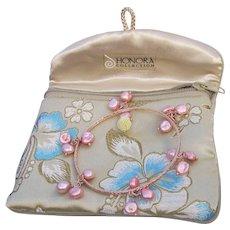 Honora Freshwater Cultured PINK Keshi  Pearl Bronze Bangle Bracelet