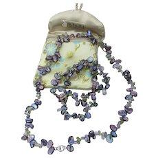 HONORA Purple Keishi Cultured Freshwater Pearl & Amethyst Necklace & Bracelet Set, MIB
