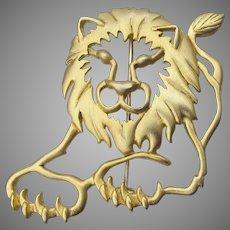 Signed JJ Jonette Jewelry Vintage LION Pin