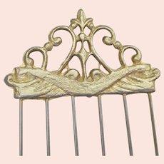 Art Nouveau Gilded Hair Comb