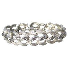Classic TRIFARI Wide Silver Tone Chain Bracelet