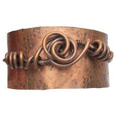 Hand Crafted Artisan Modern COPPER Cuff Bracelet