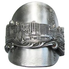 Hand Made New York City Souvenir Sterling Silver Spoon RING, Size 9