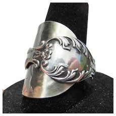 Hand Made Florida Souvenir Sterling Silver Spoon RING, Size 10