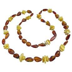 Egg Yolk & Honey Baltic Amber Vintage Necklace