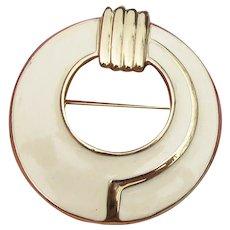 TRIFARI Vintage Art Deco Revival Enamel Pin