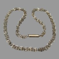 Unusual Retro 1940's Chain Vintage Choker Necklace