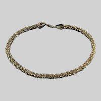 Italian Gold Plated Sterling Silver POPCORN Link Vintage Bracelet