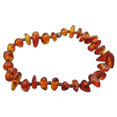 Baltic Honey Amber Vintage Stretch Bracelet