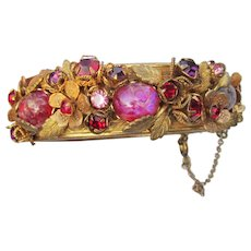 Miriam HASKELL Dragon's Breath Hinged Cuff Bracelet