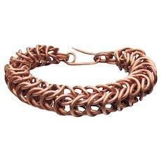 Men's or Unisex Large Vintage Solid COPPER Rings Bracelet