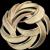 Pretty Signed Crown TRIFARI 1960's Vintage Gold Tone Leaf Circle Pin