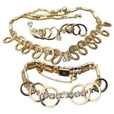 Vintage 1956 Sarah Coventry CELESTIAL FIRE Necklace, Bracelet, Earrings Set, MINT Book Piece!