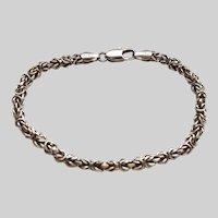 Byzantine Link Italian Sterling Silver Vintage Bracelet