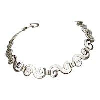 """Sterling Silver Italy """"S"""" Link Vintage Bracelet"""