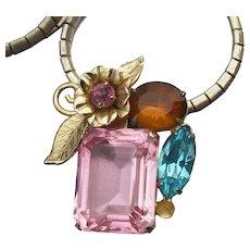Alfred Katz CORO 1950 Vintage Rhinestone Necklace