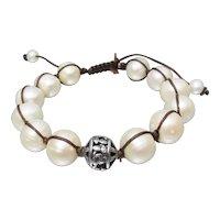 Retired SILPADA Vintage Cultured Pearl & Sterling Silver Bracelet, New In Box