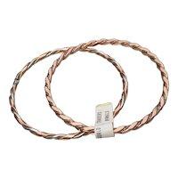2 Copper Twist Vintage Bangle Bracelets, New w/ Tag!