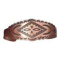 Native American Vintage COPPER Cuff Bracelet