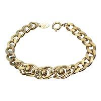 Vintage TRIFARI 1970's Gold Tone Chain Bracelet