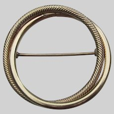 1960's Vintage Gold Filled Double CIRCLE Pin