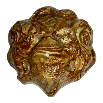 Solid Agateware Lion Head