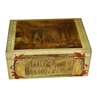 Schoolgirl or Dresser Box w/Decoupage Pictures
