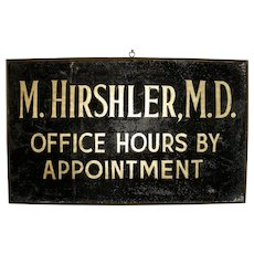 Dr. Hirshler M.D. Sign w/Sanded Surface