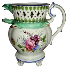 Elaborate English Puzzle Jug Dated 1832
