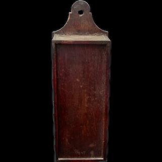 Hanging Slide-Lid Mahogany Candle Box c.1820