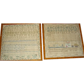 Sister Samplers from Oneida County NY, 1832