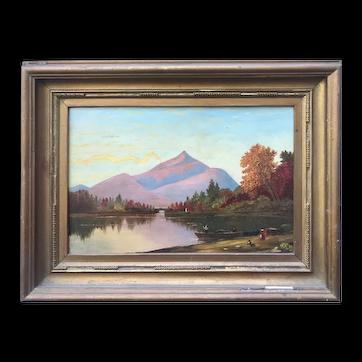 Primitive Mountain/Lake Landscape Late 19th C