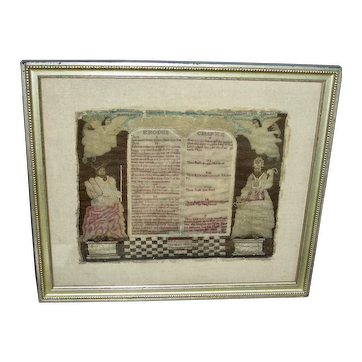 1744 Needlework of the 10 Commandments