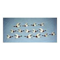15 Miniature Flying Mallards by John Lee Baldwin