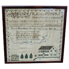 Harriet Sibley's Sampler, Barre, MA, 1826