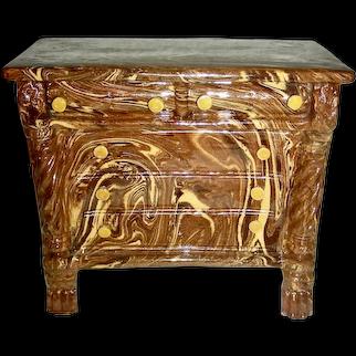 English Scroddleware Bank in Form of Dresser, c. 1840