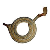 Pratt Decorated Ceramic Pipe w/Duck Head, c. 1800-1820