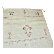 Elisabeth Denlinger's Pennsylvania Show Towel Dated 1831
