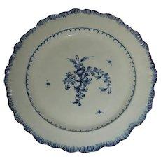 "9 ½"" Blue Shell Edge Leeds Plate c. 1810"