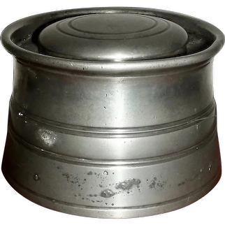 Early 19th C Pewter Inkwell