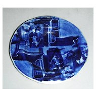 Rare Historical Staffordshire Double Transfer Cup Plate ~ The Errand Boy from Wilkie's Design Series by Clews