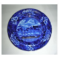 "7 3/4"" American Historical Staffordshire Salad Plate ~ Landing of Lafayette at Castle Garden, NY"