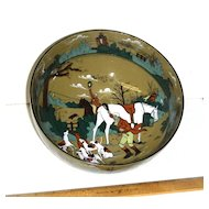 Buffalo Pottery DELDARE Fallowfield Hunt Salad Bowl 1909