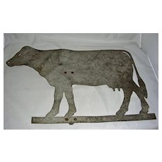 Heavy Sheet Metal Cow Weathervane, mid 20th Century