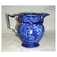 "American Historical Staffordshire 6"" Jug: Lafayette at Franklin's Tomb, c. 1825"