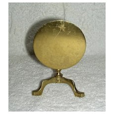 Miniature Brass Candle Reflector in the form of a Round Tilt Top Table, c. 1810