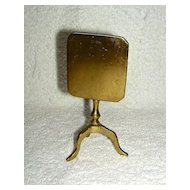 Miniature Brass Candle Reflector in the form of a Rectangular Tilt Top Table, c. 1810