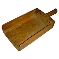 Large Wooden General Store Scoop w/ Unusual Canted Bottom