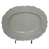 "9 ¾"" English Salt Glaze Platter w/ Molded Rim, c. 1775"